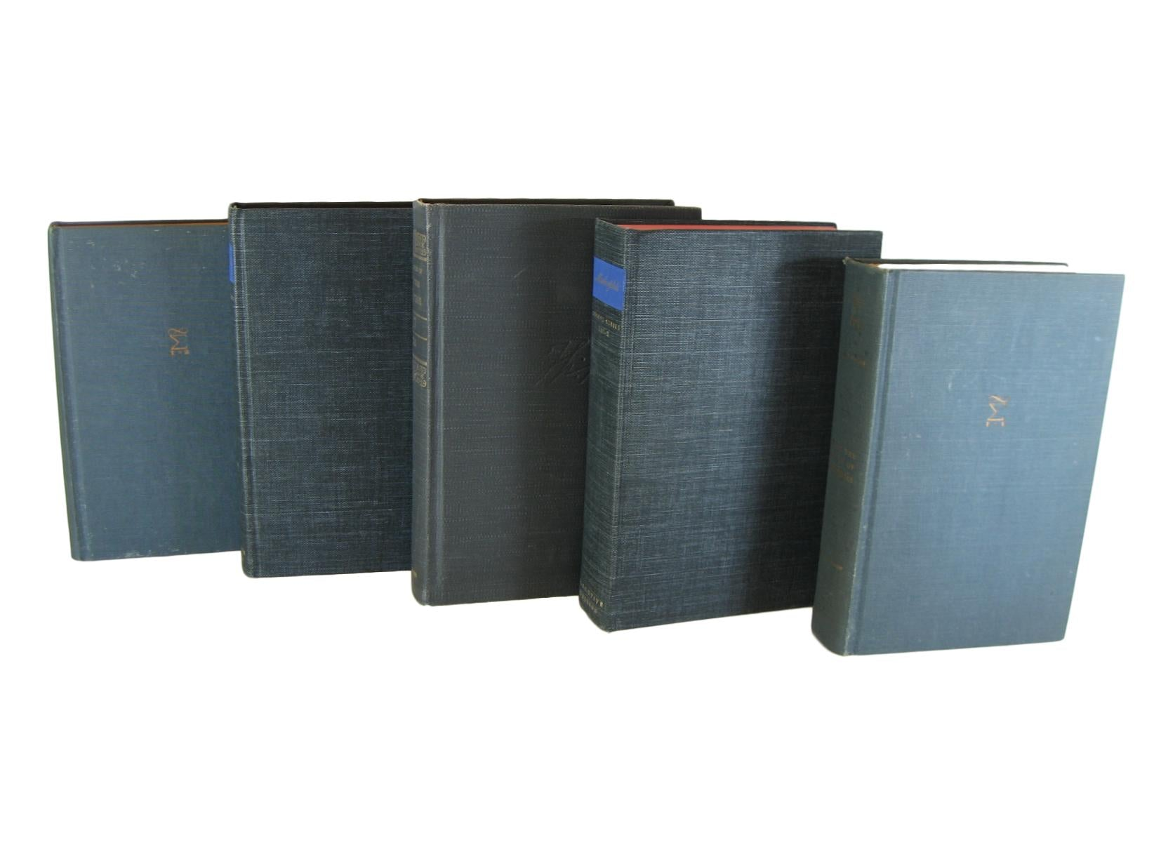Gray  Decorative Books for Decorating and Bookshelf Design, S/5 - Decades of Vintage