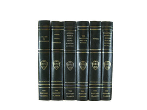 Dark Green Harvard Classics, S/6 - Decades of Vintage