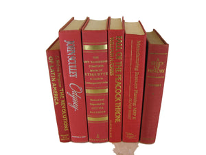 Decorative Books Red  for Vintage Book Decor, S/6 - Decades of Vintage