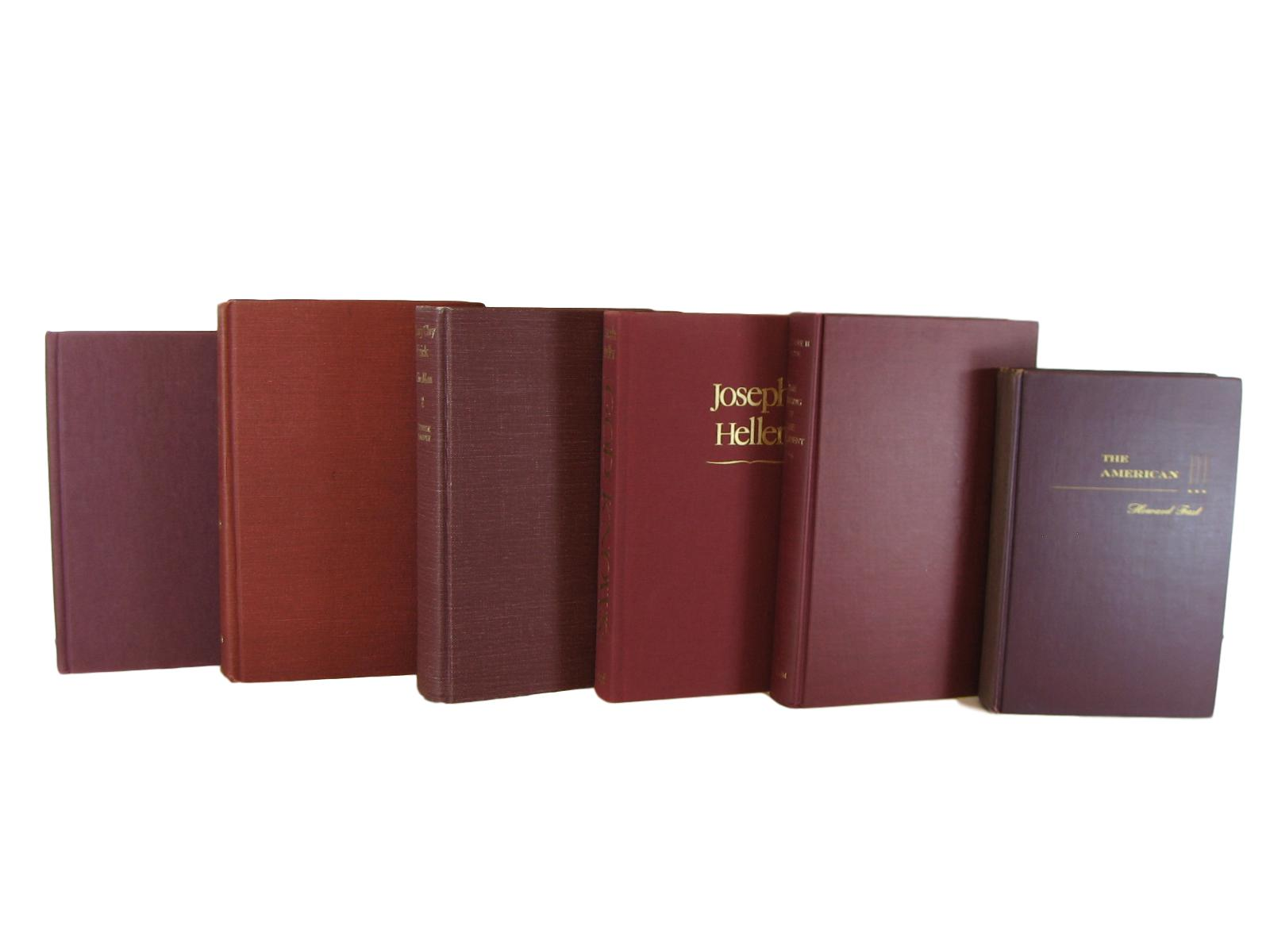 Red Burgundy Decorative Books for Display, S/6 - Decades of Vintage