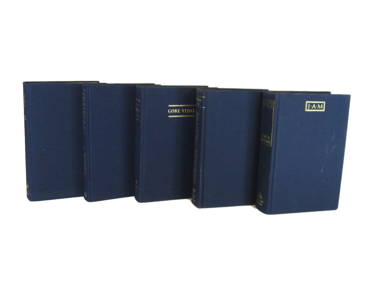 Decorative Books in Blue for  Vintage Book Decor, S/5 - Decades of Vintage
