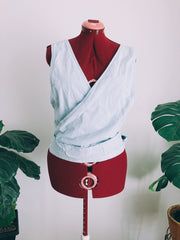Light Chambray Wrap Strap Top