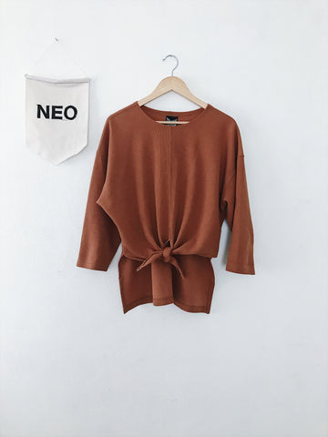 Spice Tie Front Sweater