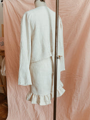 Anejo Linen Summer Skirt Blazer set