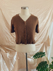 Cocoa Knit scallop Crop Top