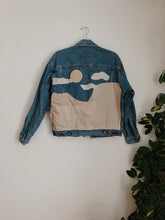 Load image into Gallery viewer, Creamy Desert Dreamscape Denim Jacket