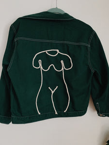 Ode to Femme's Form Green Jacket