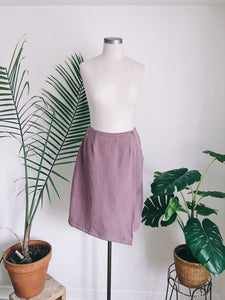 Muted Mauve Silk  WrapSkirt
