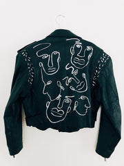Of Us Authentic Leather Biker Jacket
