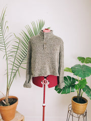 Button Collar Earth Sweater