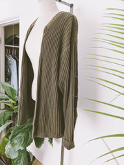 Knit Moss Green Sweater Throw