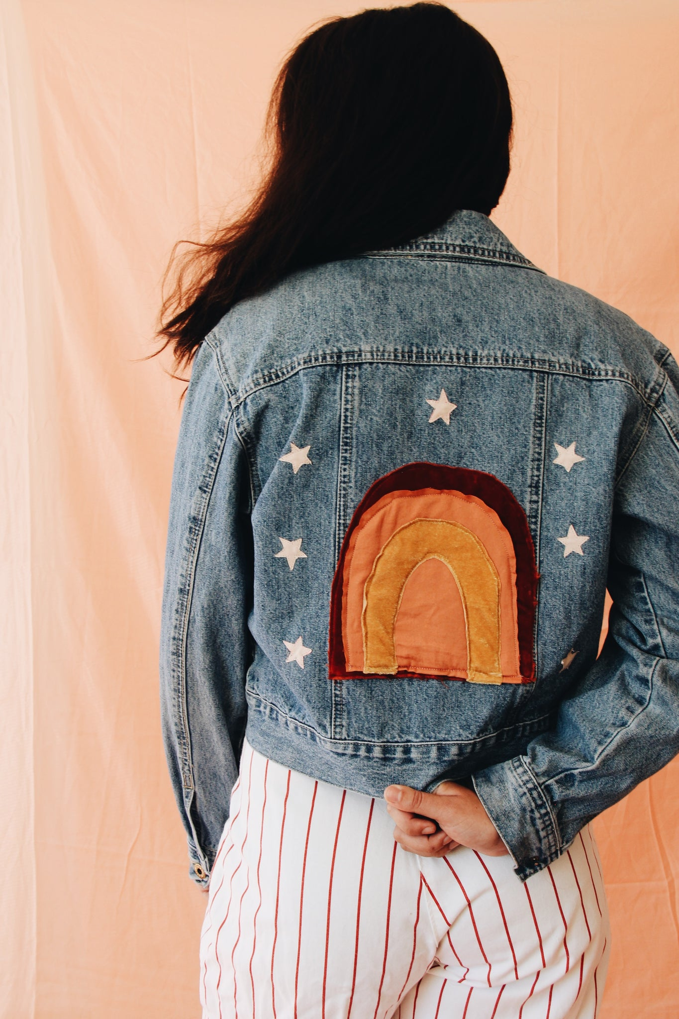 Rainbow Starlight Denim Jacket