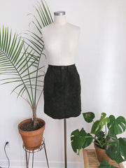 Chocolate Vintage Boho Suede Skirt