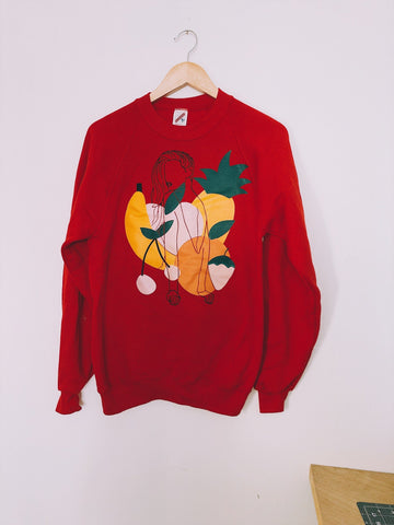 LIMITED Pullover Fruit Lady in Red