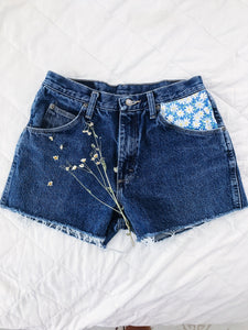Blue Like Daisy High Rise Wrangler Shorts (back in stock)