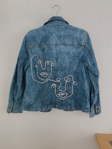 New Friends Cordbroidered Denim Jacket