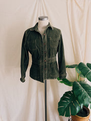 Deep Green Rolled Desert Sands Work Jacket