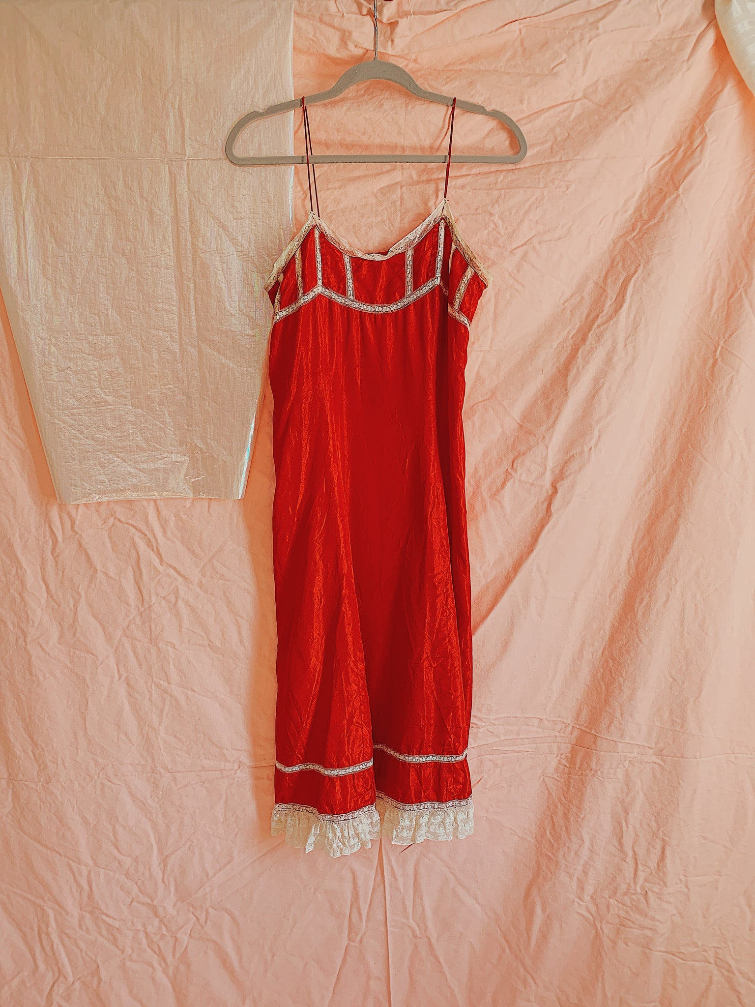 Parsifal Red Vintage Slip Dress