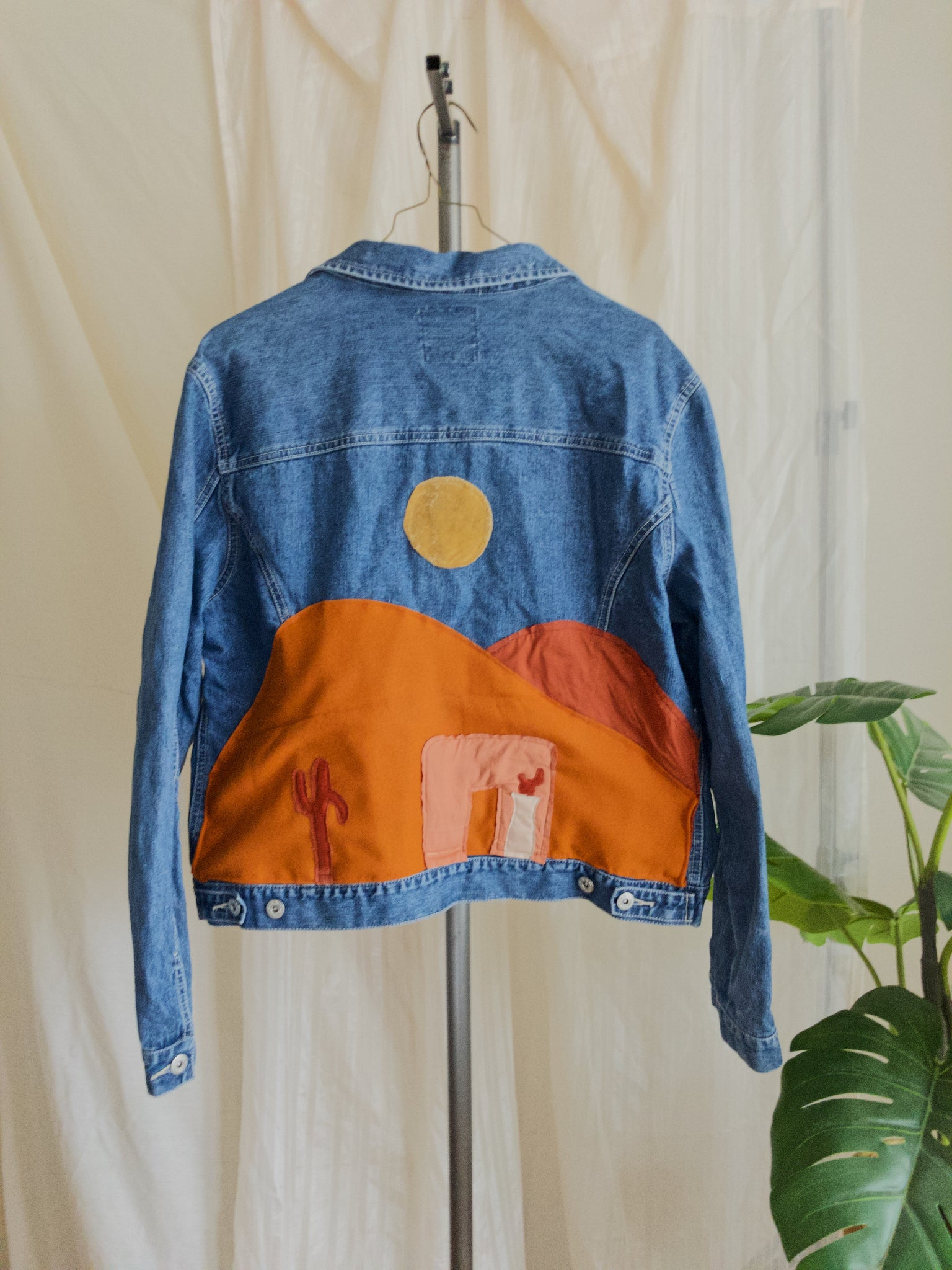 Apricot Clay Adobe Dreamscape Denim Jacket