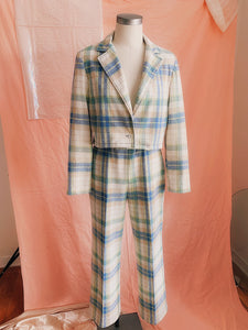 Lucid Pastel Plaid Blazer + Pant Set