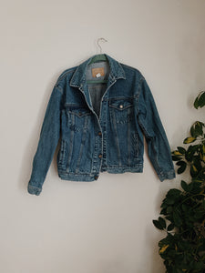 Creamy Desert Dreamscape Denim Jacket