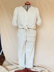 Light Striped Linen Pant Set