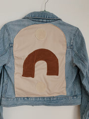 Arc and Light Cropped Denim Jacket