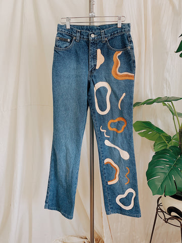 Pools of Desert Hand-painted Jeans