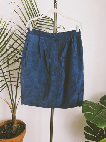 Cobalt Blue Suede Skirt