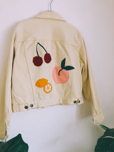 Fruity Cutie Daisy Yellow Denim Jacket