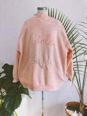 Girls are Magic Vintage Peach Melba Varsity Jacket