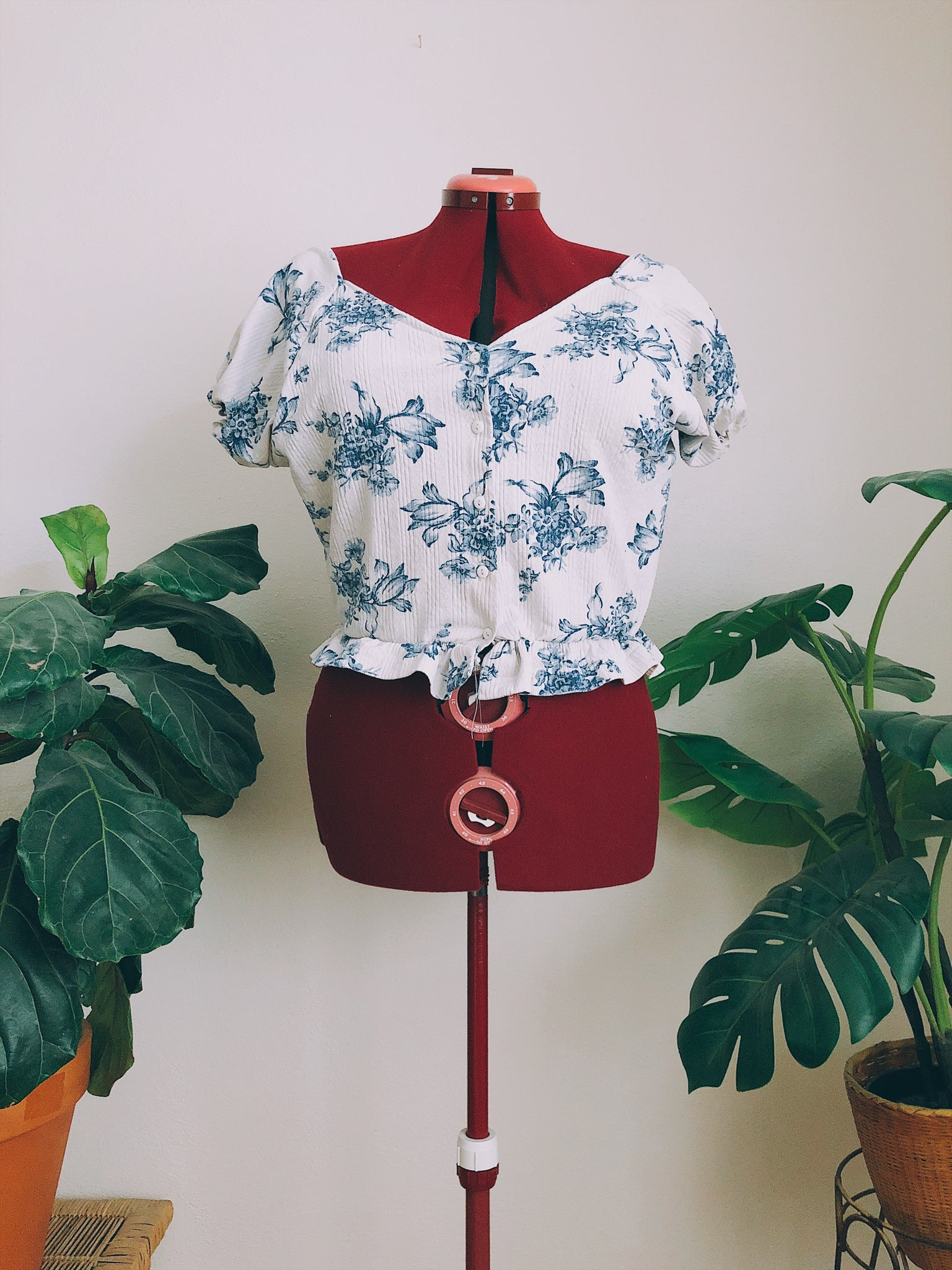 Floral Frill Off the Shoulder Crop Top