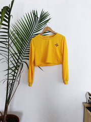 All Sick Zia Cropped Pullover
