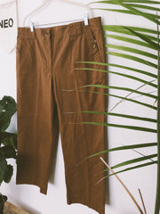 Adobe Brown Retro High-Rise Culotte