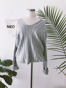 Lucid Grey Knit Sweater