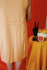 Twiggy Daffodil Mid Mod Button Dress