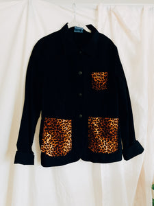 Cheetah Patch Pocket Work Jacket