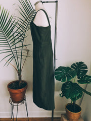 Army Green Pinafore Dress