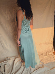 Silky Sea Sage Maxi Dress