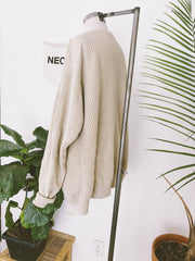 Knit Ecru Sweater Throw