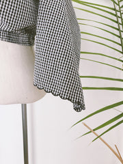 Gingham Scalloped Top