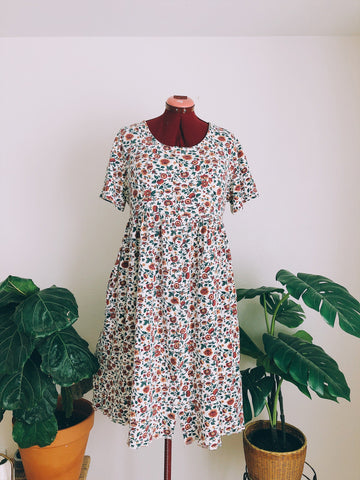 Cranberry Marigolds Babydoll Dress