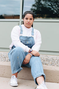Pastel Painter's Vintage Denim Overalls