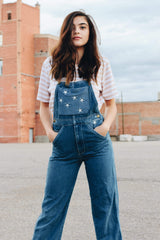 Star Gazer Vintage Denim Overalls