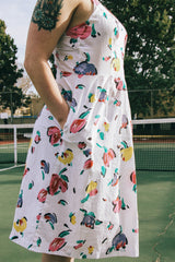 Vintage Tulip Kiss Summer Dress