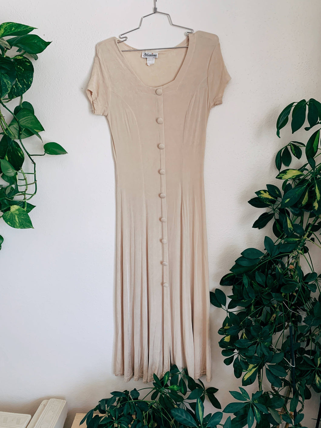 Cream of Wheat Button Knit Dress
