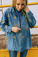 The Sunflowers and the Bees Zip Up Jacket