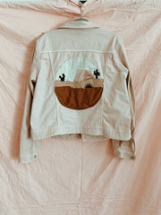 Blushed Tan Still Dreamscape Denim Jacket