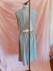 Sea breeze linen summer skirt set