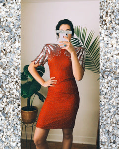 Fire Glitter Elixir Vintage Cocktail Dress
